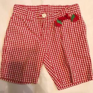 Gymboree Strawberry Farm Checkered Shorts 3T